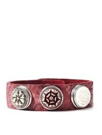 NOOSA Leder-Armband in Bordeaux für 3 Chunks