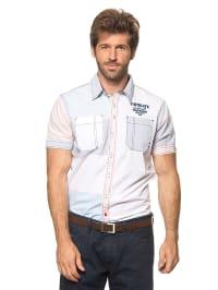Twinlife Hemd in Weiß/ Hellblau