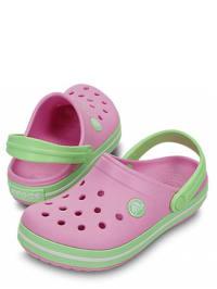 "Crocs Clogs ""Crocband Kids"" in Rosa/ Hellgrün"