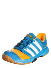 """Adidas Hallenschuhe """"Court Stabil 11"""" in Blau/ Orange"""