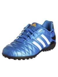 """Adidas Multinocken-Fußballschuhe """"11questra TF J"""" in Blau/ Weiß"""