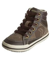 "Geox Leder-Sneakers ""Elvis B"" in Braun"