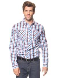 Longboard Hemd in Blau/ Lila/ Weiß