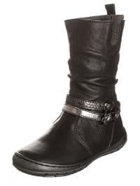 Romagnoli Leder-Stiefel in Dunkelgrau