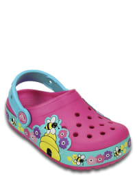 "Crocs Clogs ""Lights Busy Bee"" in Pink/ Türkis"
