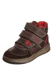 """Primigi Leder-Sneakers """"Flumber"""" in Braun/ Rot"""