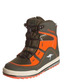 "Kangaroos Winterstiefel ""SnowRacer 2023"" in Khaki/ Orange"