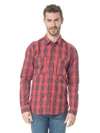 "Jack & Jones Kariertes Hemd ""Campus"" in rot/ schwarz"