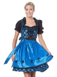 LEKRA Mini-Dirndl in blau/ schwarz