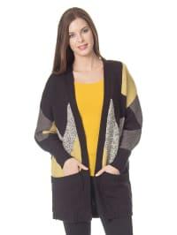 Vero Moda Cardigan in schwarz/ grau/ gelb