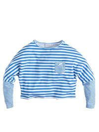 Geox Longsleeve in Weiß/ Blau